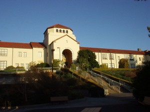Founder's Hall on the campus of Humboldt State University, Arcata, Calif. Photo taken by John Baker